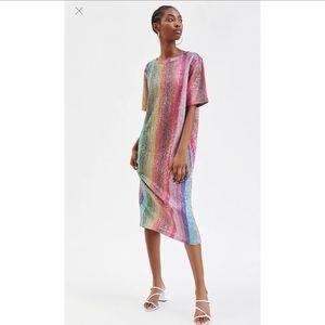 Zara Multicolor sequins dress